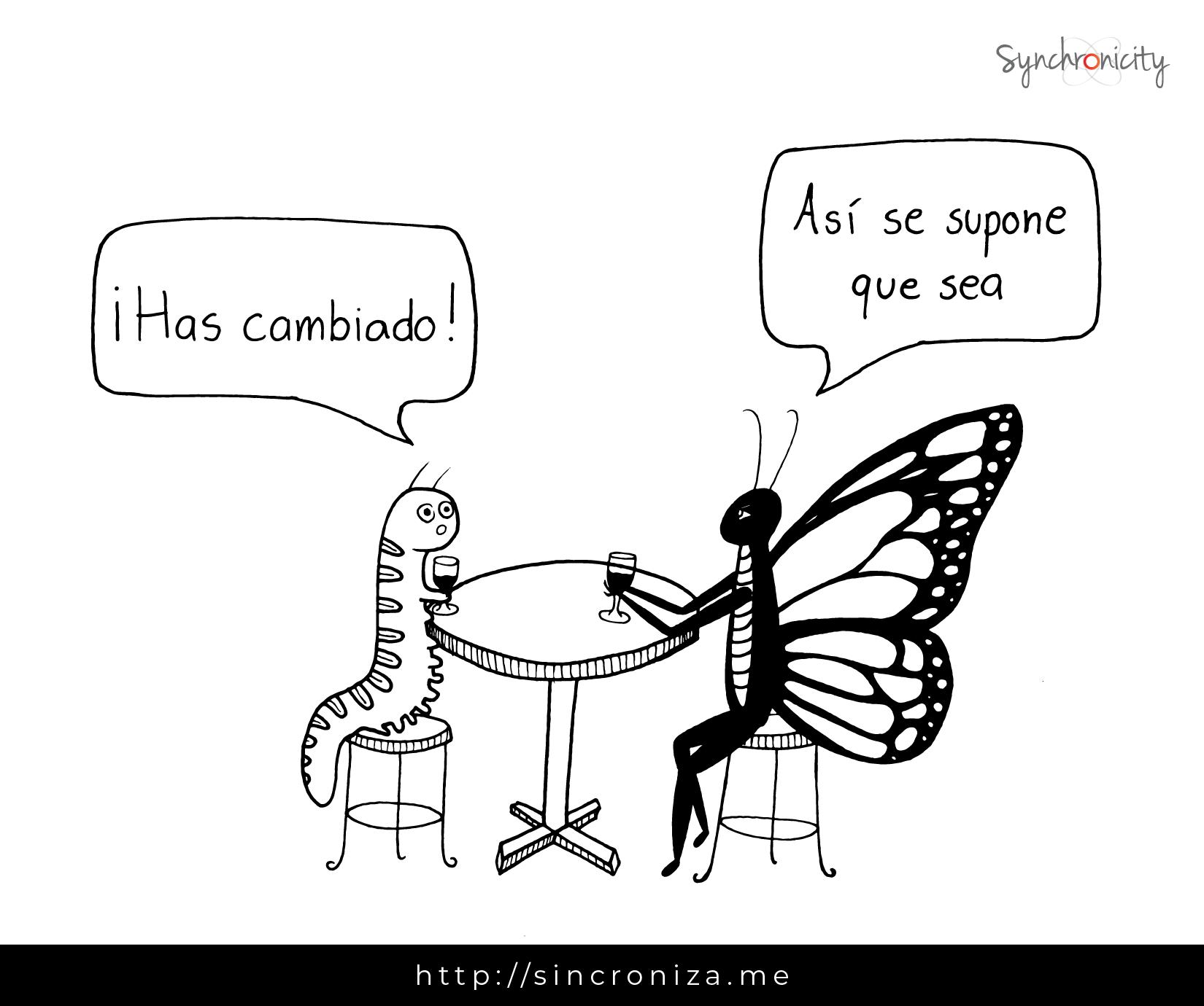 Caricatura – ¡Has cambiado!