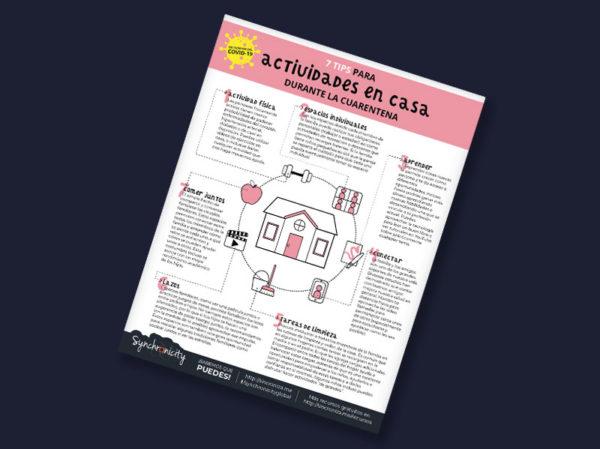 Infográfico - Tips para Actividades en Casa