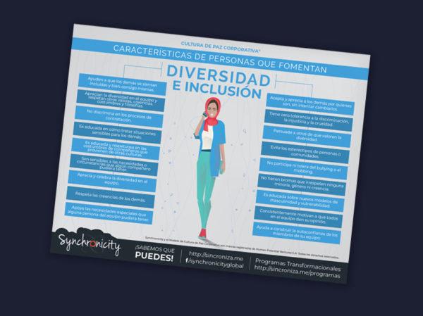 Infográfico Personas Que Fomentan Diversidad e Inclusión