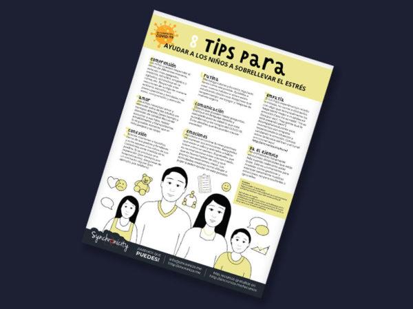 Infográfico - Tips Ayudar a los Niños a Sobrellevar el Estrés