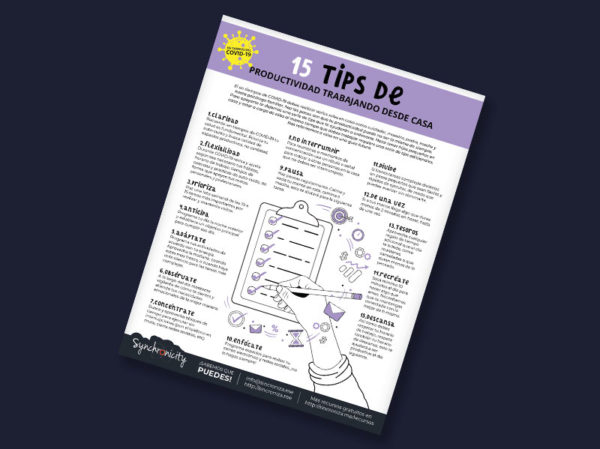 Infográfico - Tips Productividad Trabajando desde Casa
